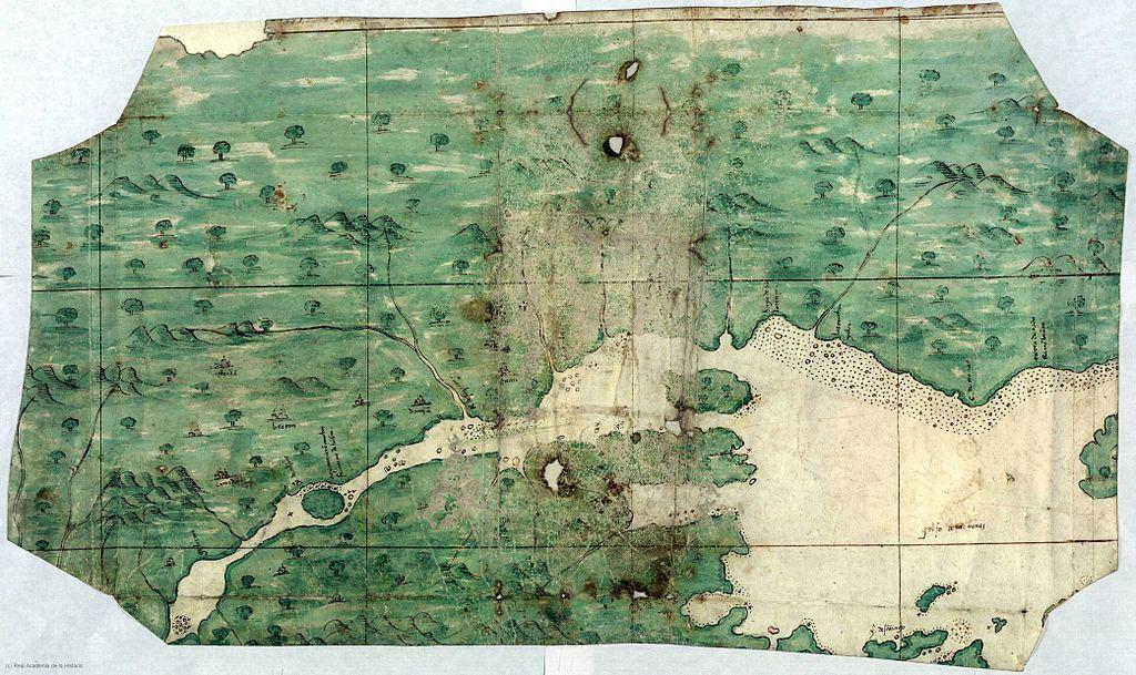 Mapa español de la zona delRío San Lorenzo, 1541 en Canadá