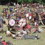 Combate entre vikingos. la invasión de Irlanda