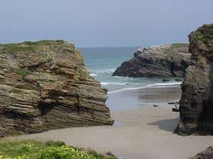 Playa gallega llamada de Las Catedrales